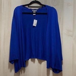 Catherines 3/4 Sleeve Cobalt Blue Shrug Size 5X